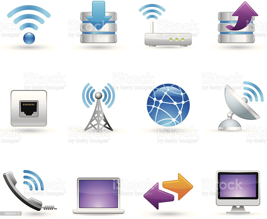 Universal icons - Wireless vector art illustration