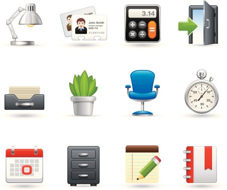 Universal icons - Work place