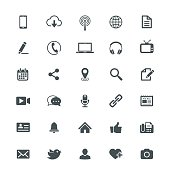 Collection of useful universal internet icons.