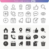 Trendy line icons for web and mobile. Normal and enable state.