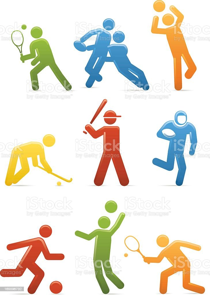 Universal Men Ball Games royalty-free universal men ball games stock vector art & more images of adult