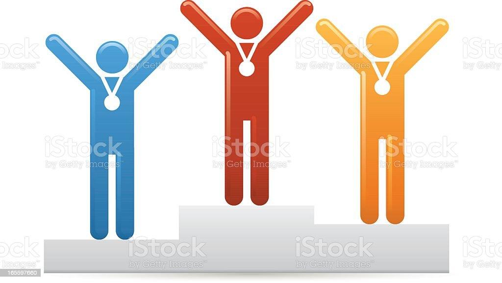 Universal Men Podium winners royalty-free universal men podium winners stock vector art & more images of adult
