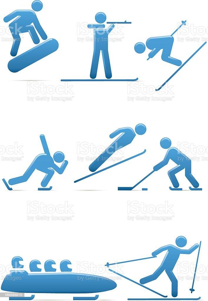 Universal Men Winter Sports royalty-free stock vector art