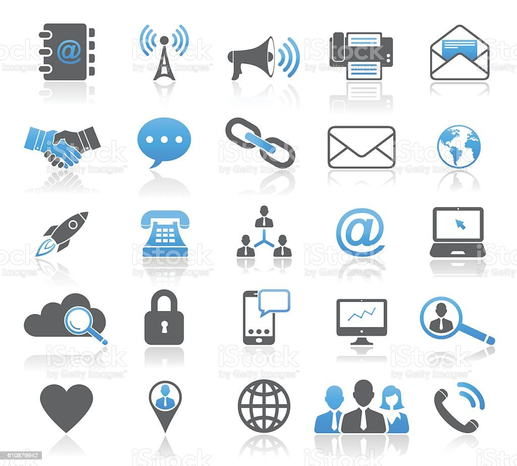 universal modern contact icon set stock vector art  u0026 more