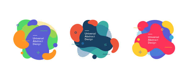 ilustrações de stock, clip art, desenhos animados e ícones de universal modern set of abstract elements - forma
