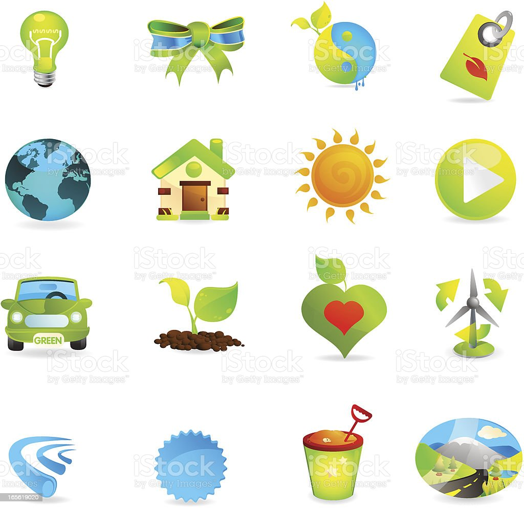 Universal Nature Icons royalty-free stock vector art