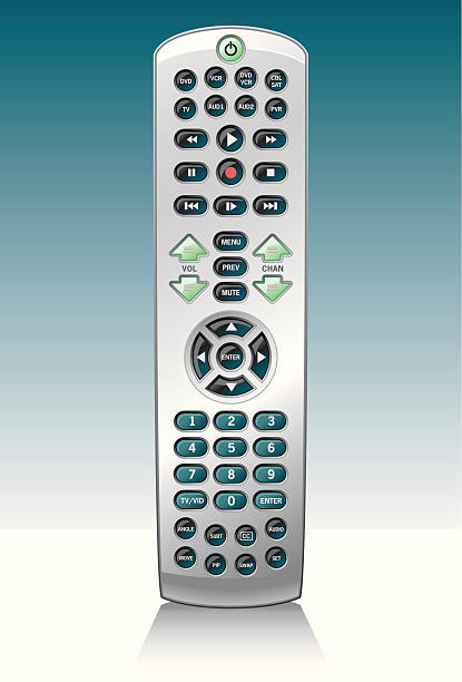 Universal Remote Control vector art illustration