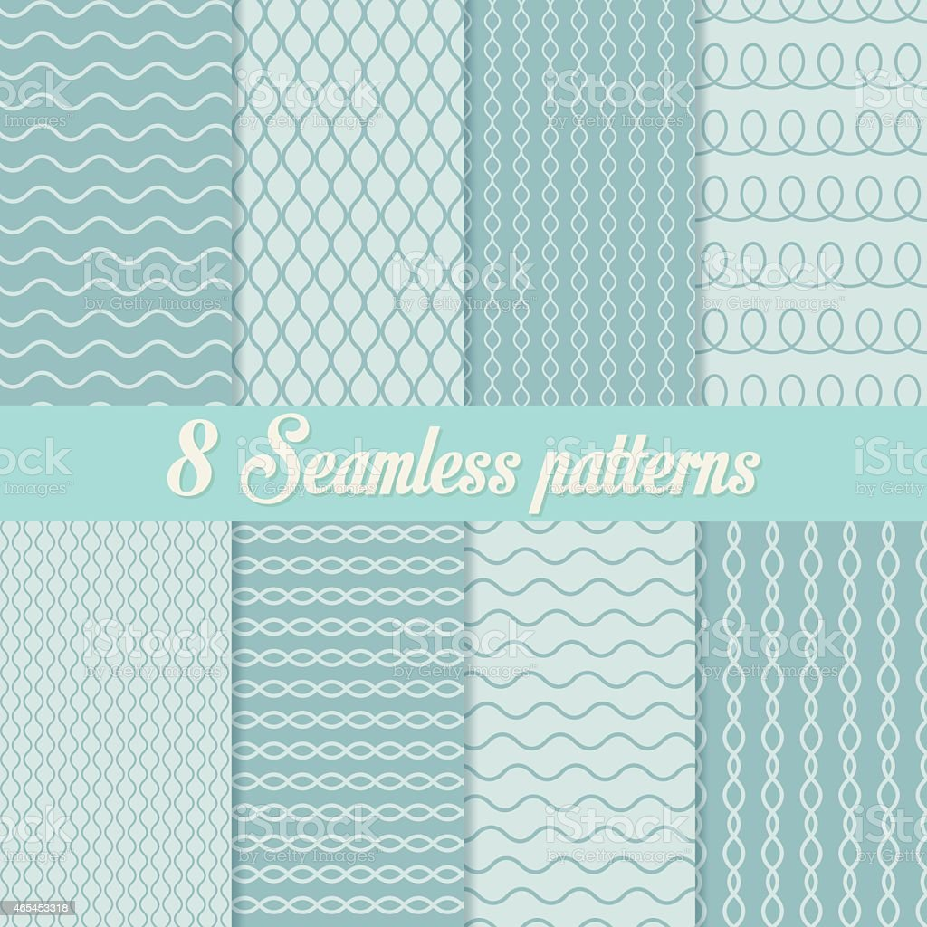 Universal seamless patterns vector art illustration