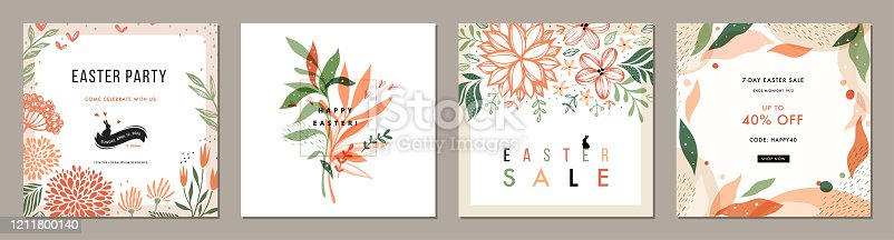 istock Universal Social Media Easter Templates_13 1211800140