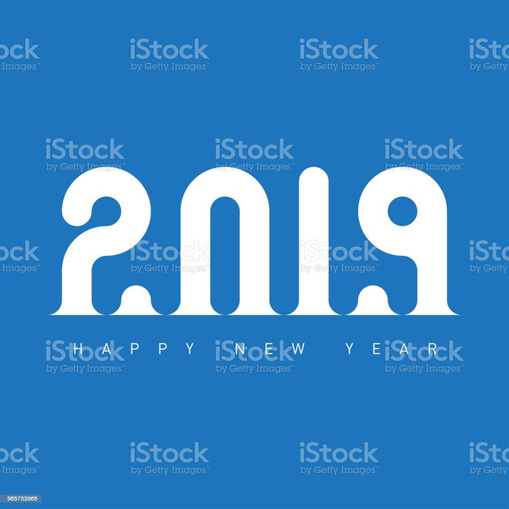 Universele Vector achtergrond met bijgesneden ontwerpelement. Gelukkig Nieuwjaar 2019. Creatief ontwerp wenskaartsjabloon. - Royalty-free 2019 vectorkunst