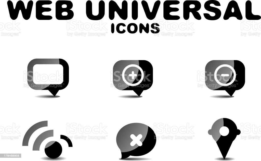 Universal web icons royalty-free stock vector art