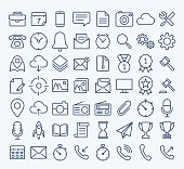 Universal Web thin line icon set