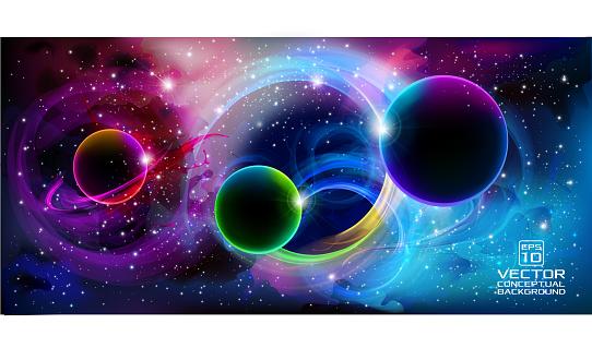 Universe banner background