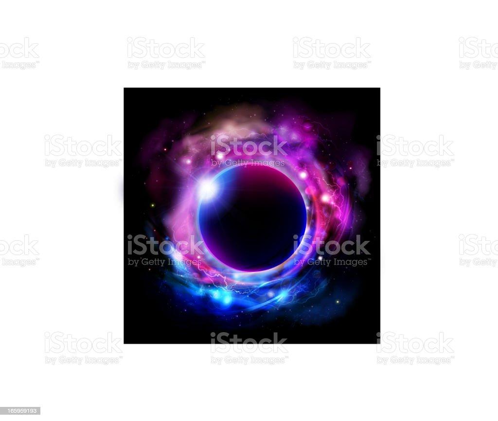 Universe bright background vector art illustration