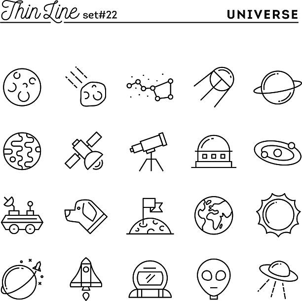universum, celestial organe, rucola-launching, astronomie und vieles mehr - sternwarte stock-grafiken, -clipart, -cartoons und -symbole