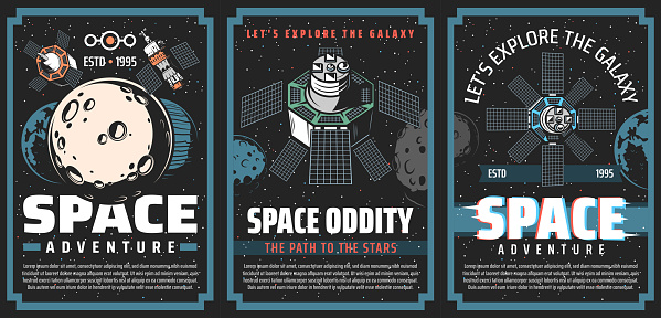 Universe galaxy outer space posters, planets