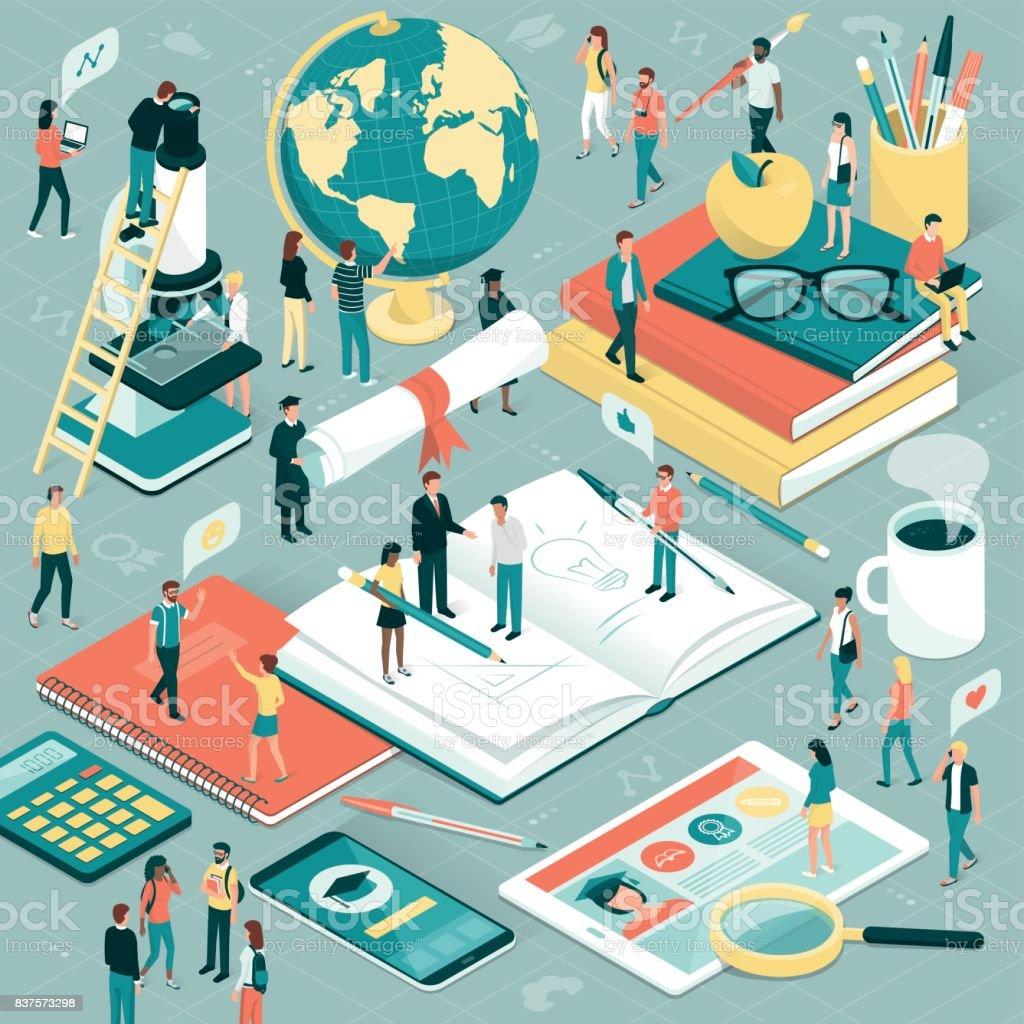 Université et recherche - Illustration vectorielle