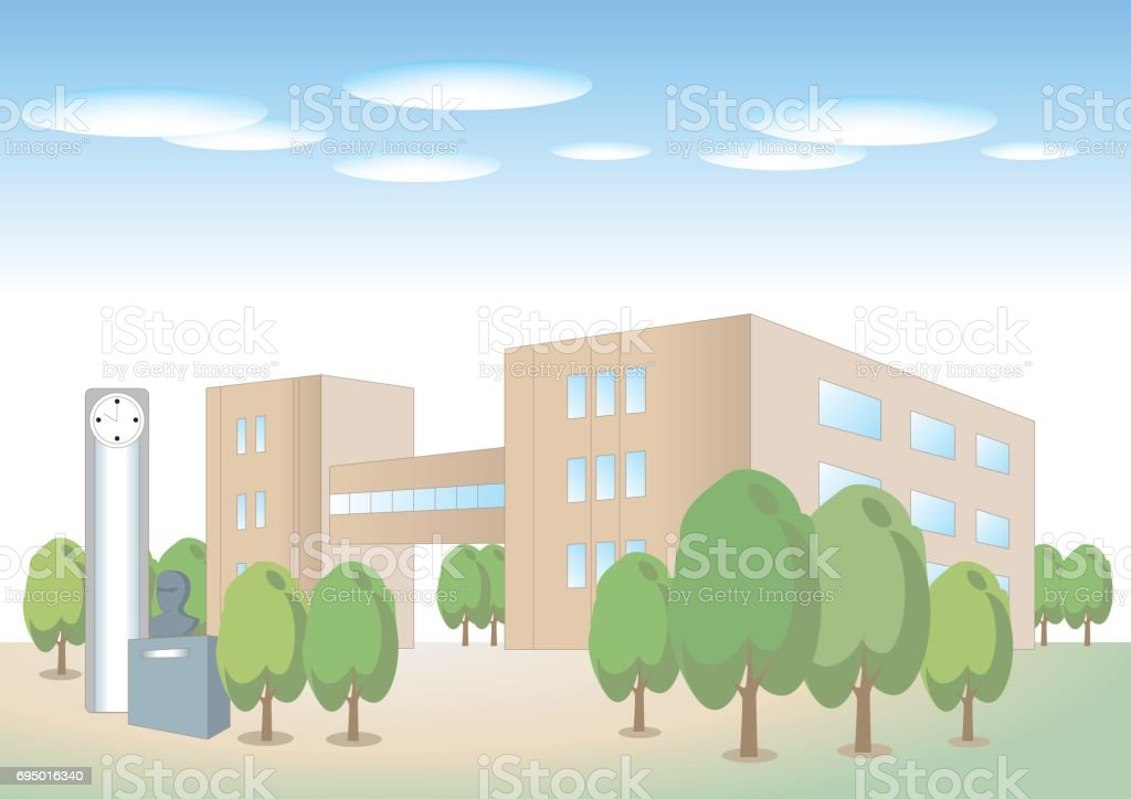 University building image vector art illustration