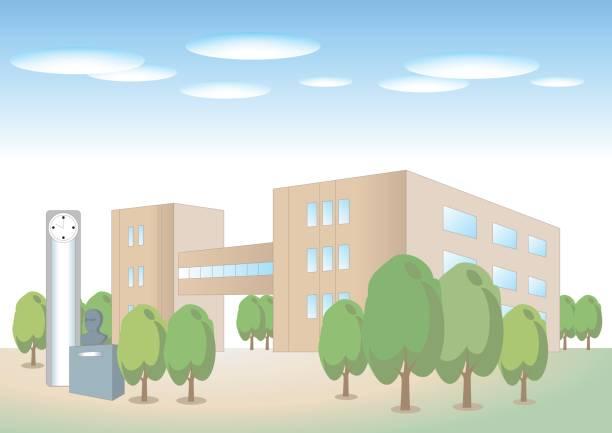 大学建物イメージ - 中学校点のイラスト素材/クリップアート素材/マンガ素材/アイコン素材