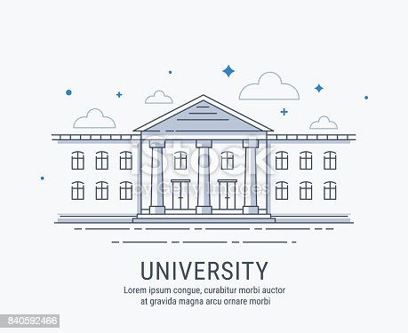 University Building Stock Vector Art & More Images of ...  University Buil...