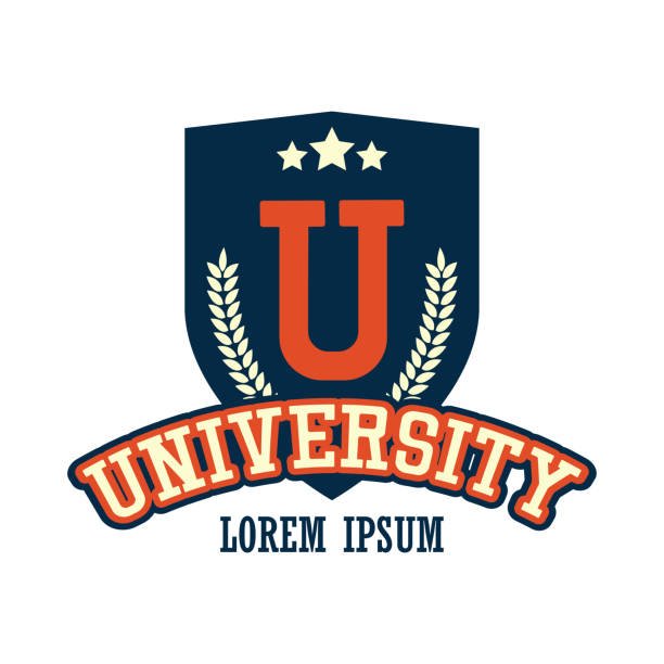 university / campus logo with text space for your slogan / tag line - university stock illustrations, clip art, cartoons, & icons