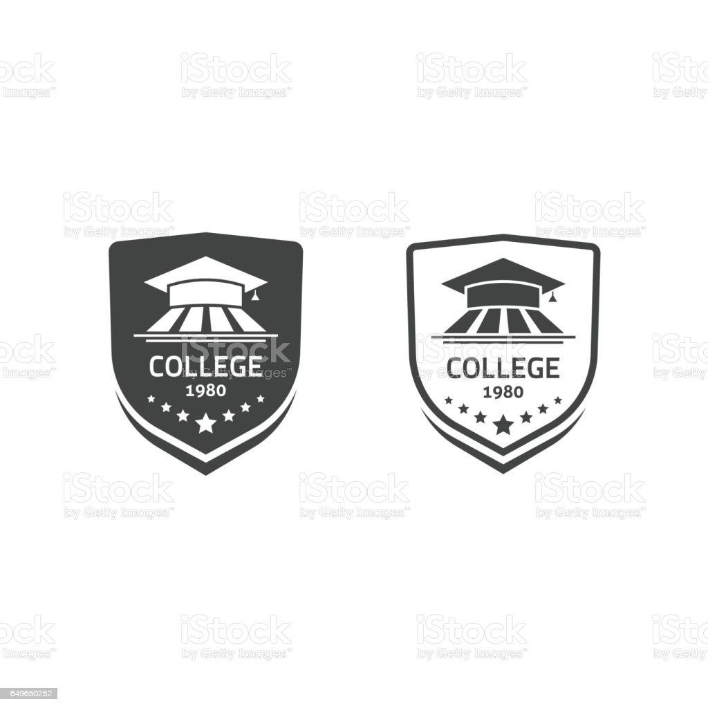 Universität und der Hochschule Schule Embleme setzen Vektor-logos – Vektorgrafik