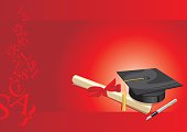university degree college  greeting card red.cdr