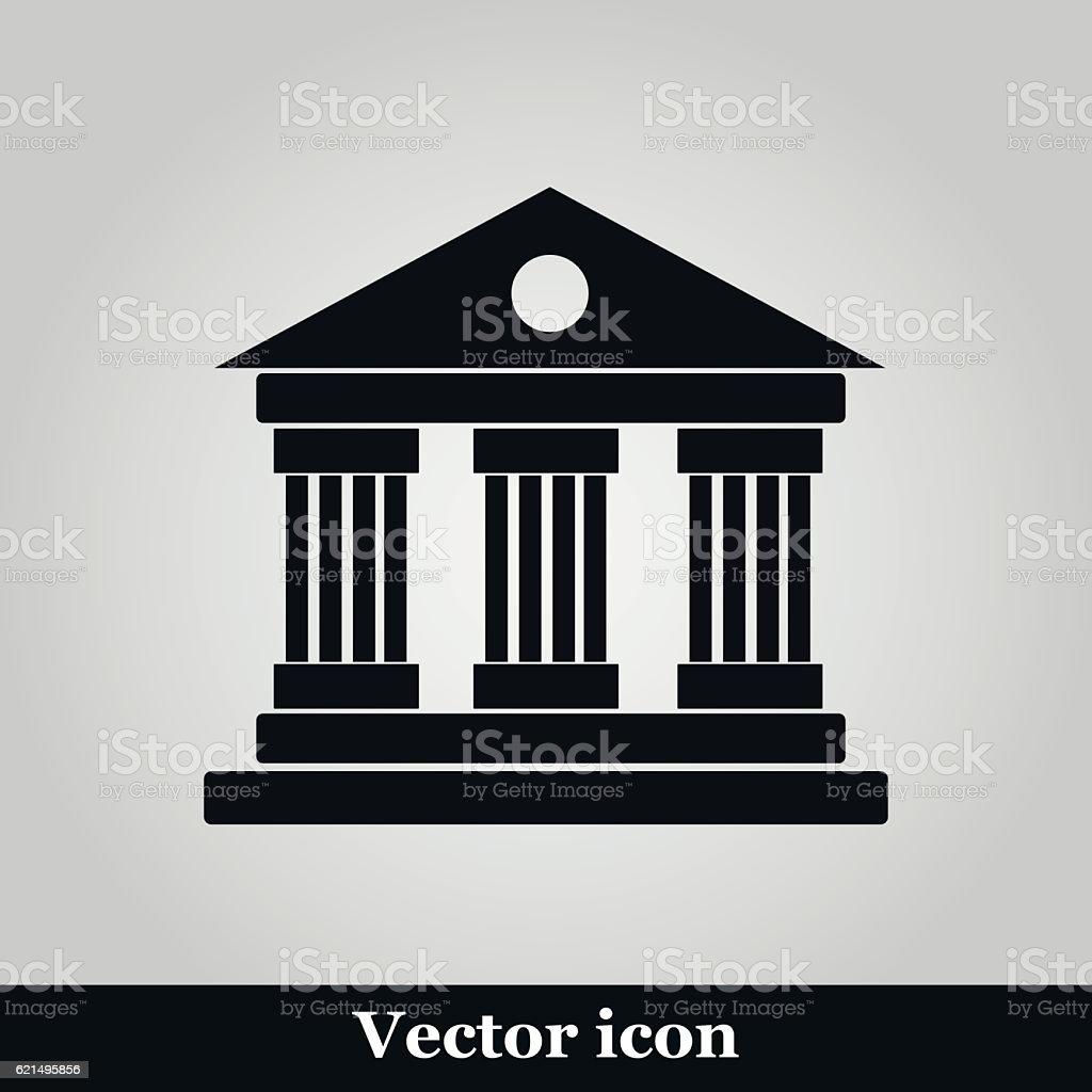 University Icon Isolated on grey Background university icon isolated on grey background – cliparts vectoriels et plus d'images de architecture libre de droits
