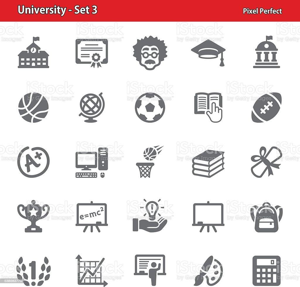 University Icons - Set 3 vector art illustration
