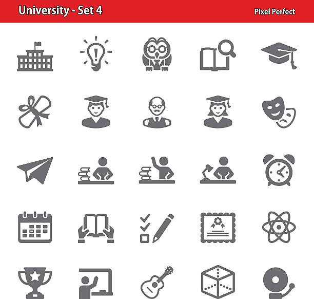 university icons - set 4 - birds calendar stock illustrations, clip art, cartoons, & icons