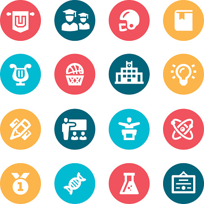 University Icons Stock Illustration - Download Image Now