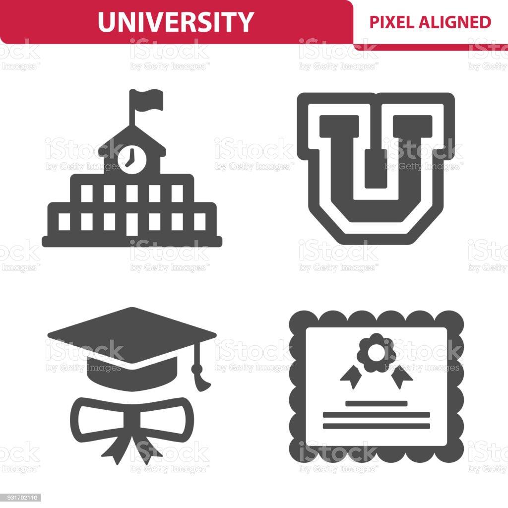 University Icons vector art illustration