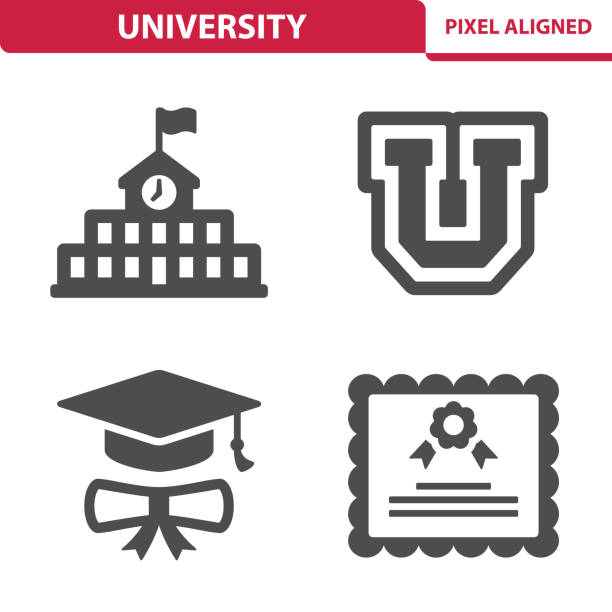 university icons - university stock illustrations, clip art, cartoons, & icons