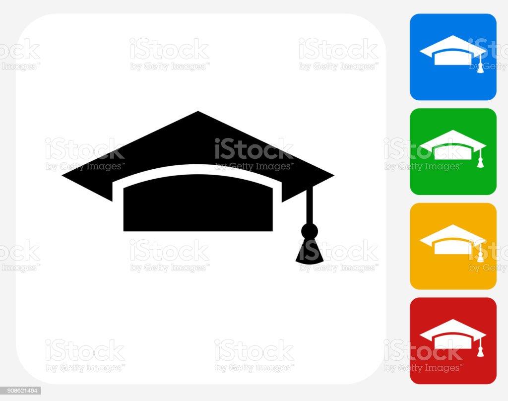 University Mortarboard. vector art illustration
