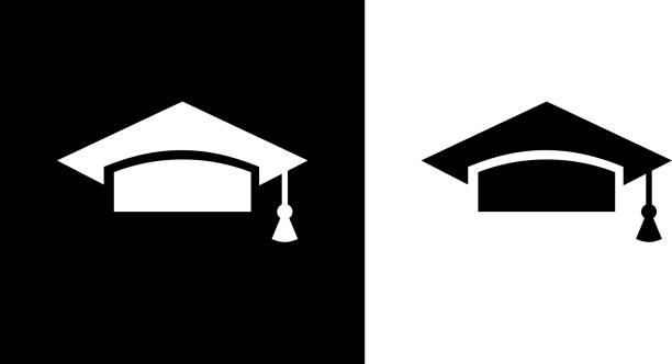 University Mortarboard. vector art illustration