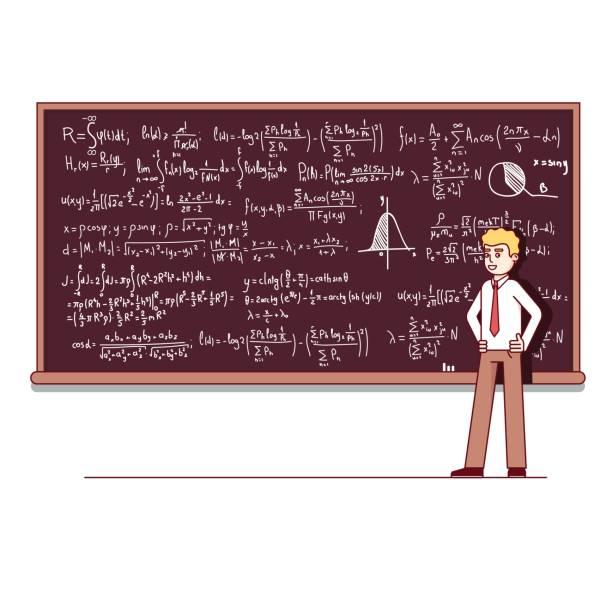 数学に関する講義を行う大学教授 - 数学の授業点のイラスト素材/クリップアート素材/マンガ素材/アイコン素材