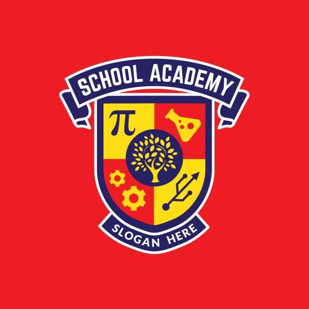 illustrations, cliparts, dessins animés et icônes de conception de logo d'illustration d'image d'école d'université - lycée
