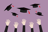 istock A university student is throwing a graduation cap 1225200748