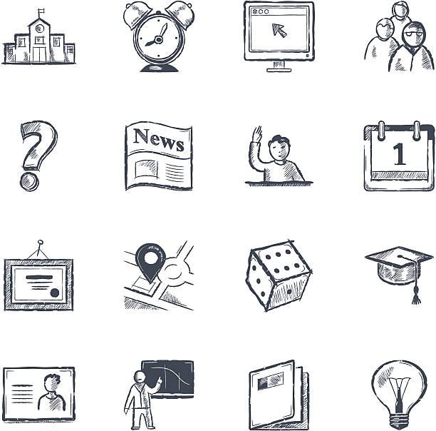 大学 - 作文の授業点のイラスト素材/クリップアート素材/マンガ素材/アイコン素材