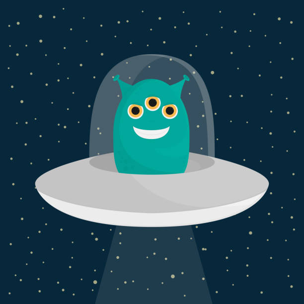 unknown flying object alien vector illustration eps10 – artystyczna grafika wektorowa
