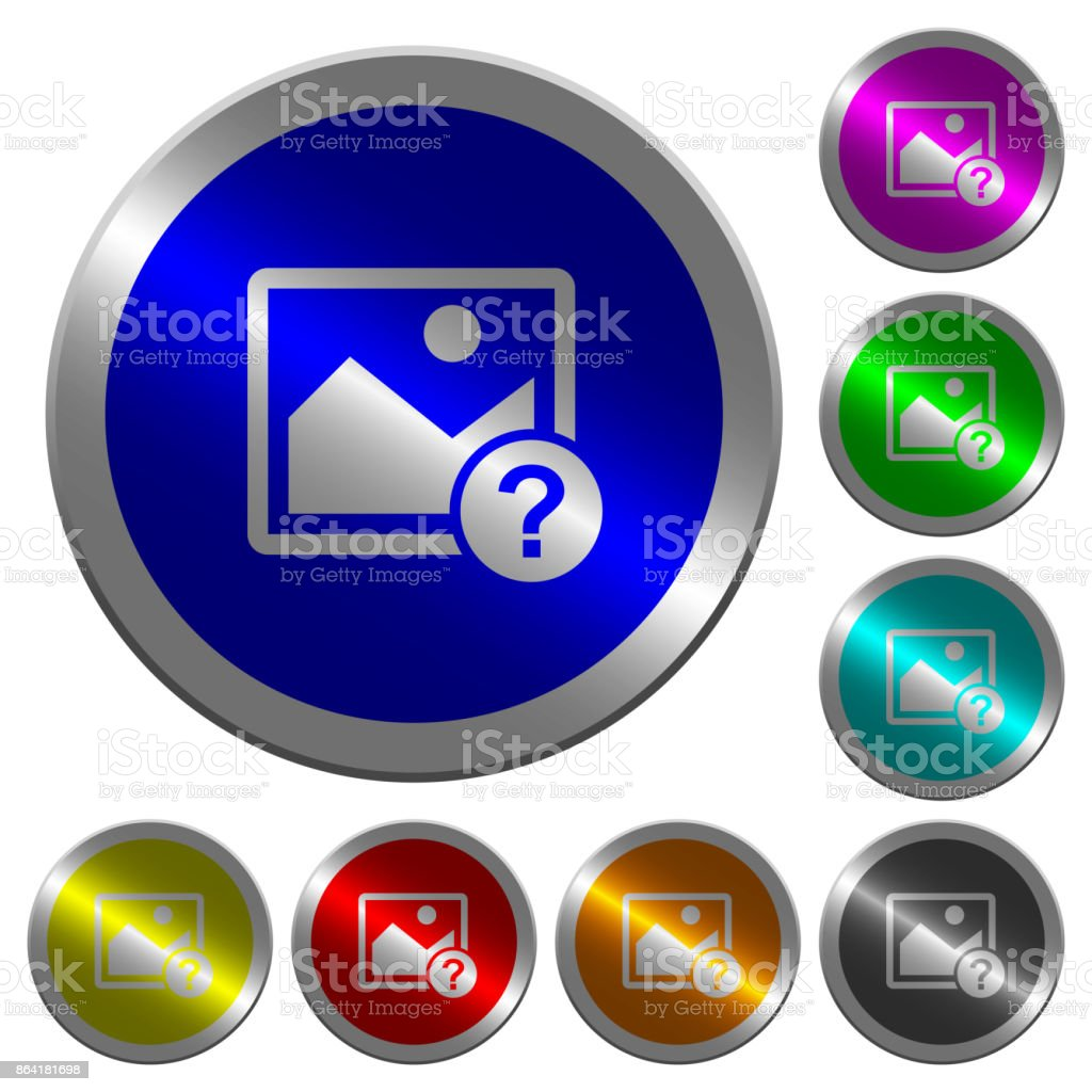 Unknown image luminous coin-like round color buttons royalty-free unknown image luminous coinlike round color buttons stock vector art & more images of art product
