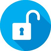 istock Unlock Icon Silhouette 600090774