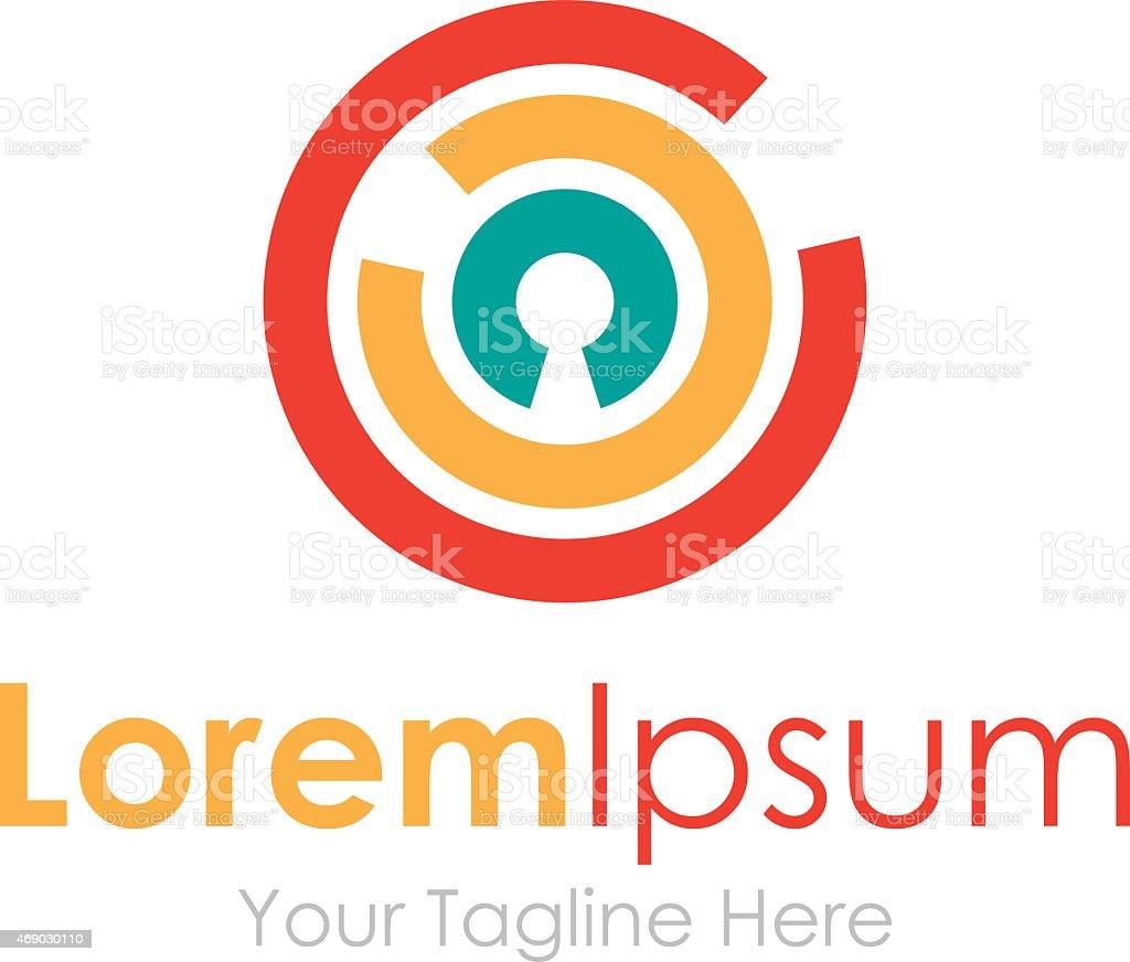 Unlock the secret simple business icon logo vector art illustration