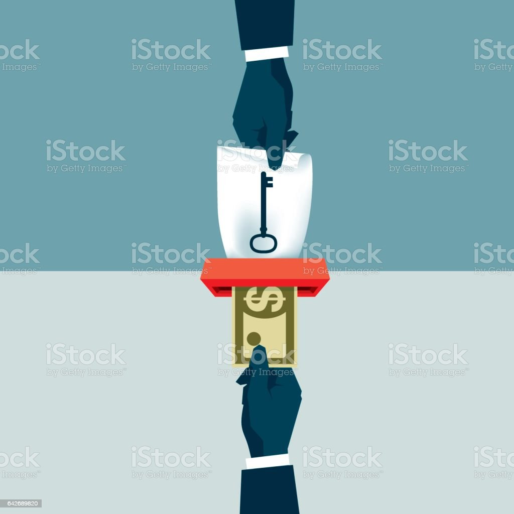Unlocking vector art illustration
