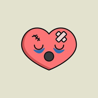 Unlove symbol, cartoon character