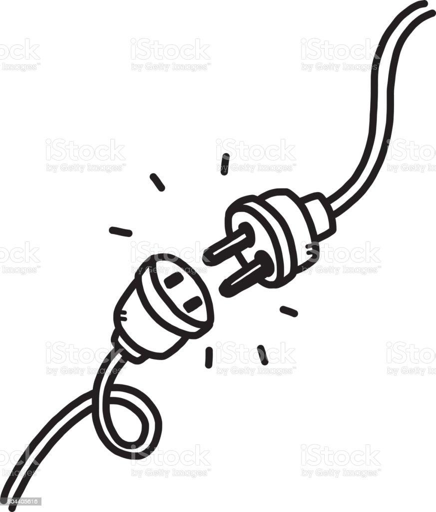 unplug royalty-free unplug stock illustration - download image now