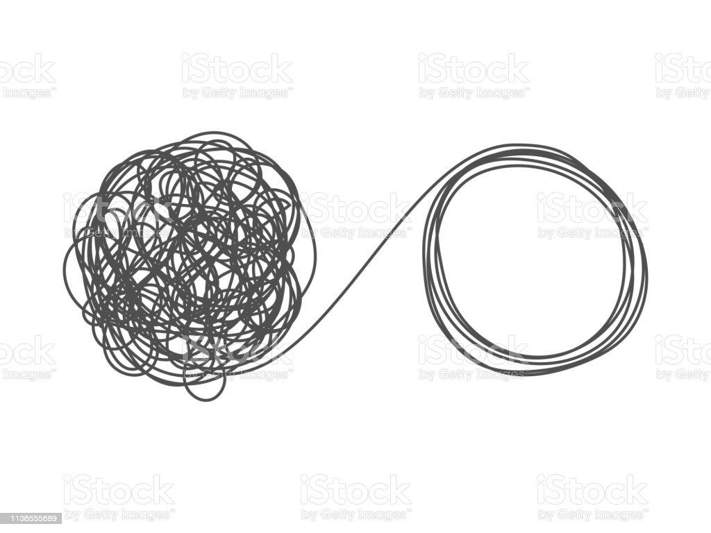 Unraveling Tangled Tangle Stock Illustration Download Image Now Istock