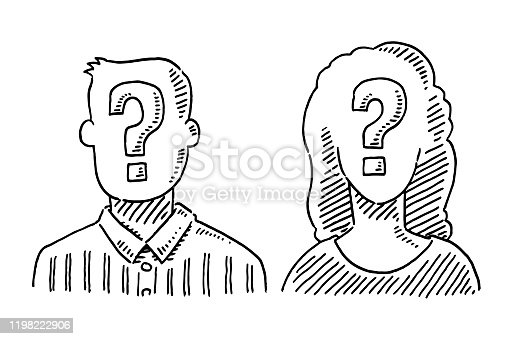 istock Unrecognizable People Question Mark Symbol Drawing 1198222906
