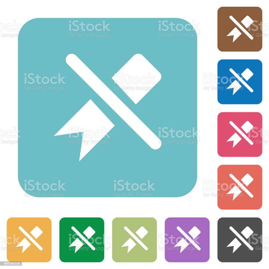 Untag rounded square flat icons