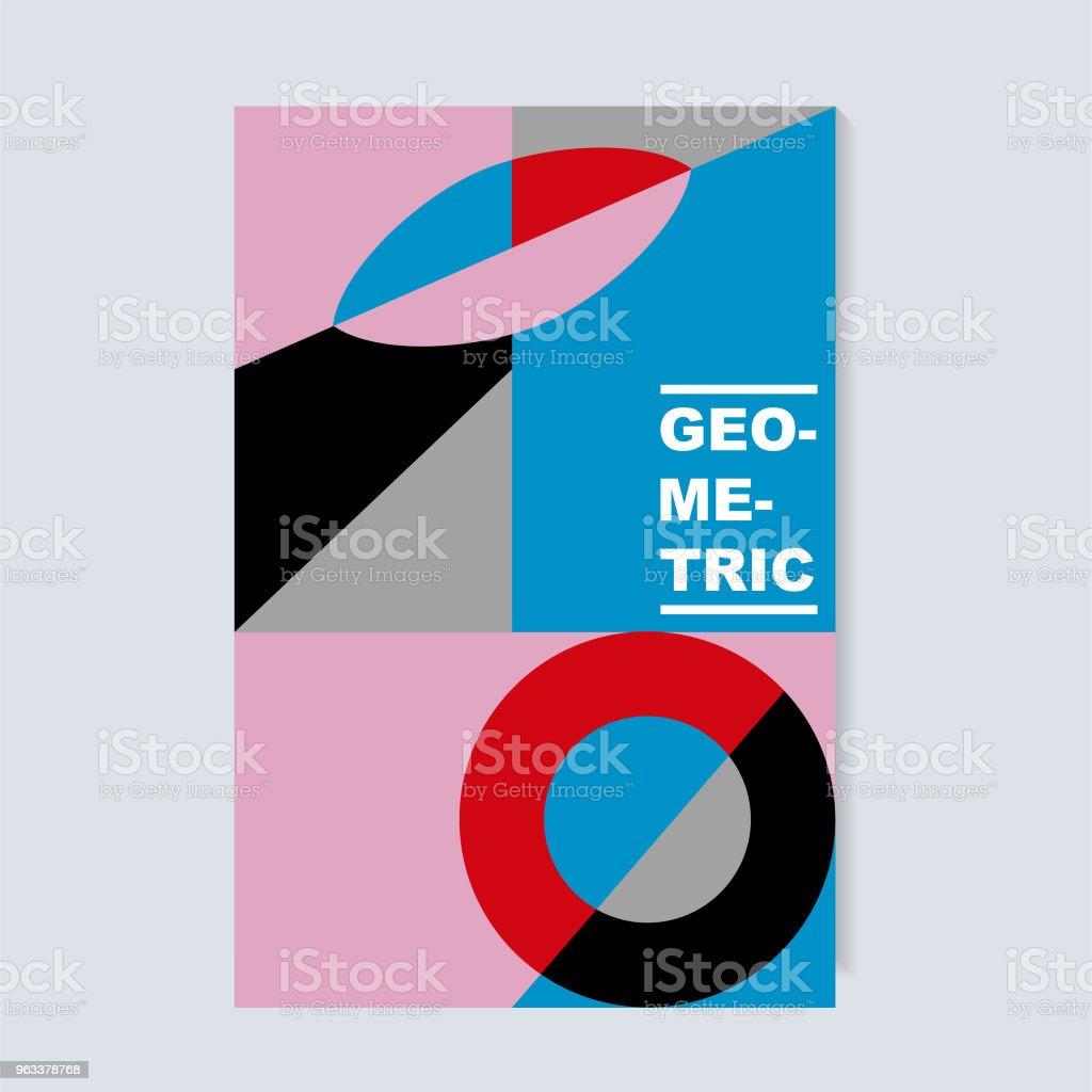 Unusual geometric covers design. Circle, square and triangle shapes. - Grafika wektorowa royalty-free (Abstrakcja)